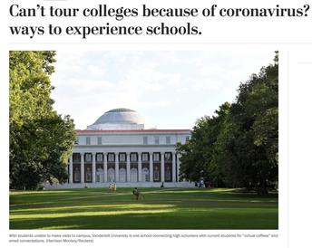 College Websites & Social Media