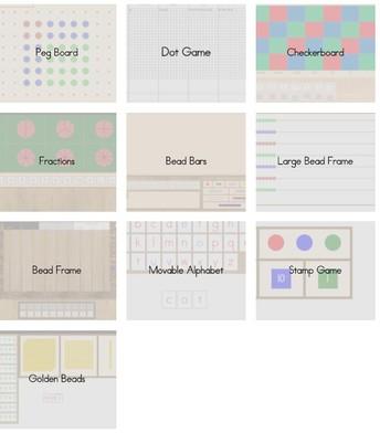 Virtual Montessori materials