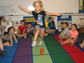 """Jack be Nimble"" in Kindergarten"