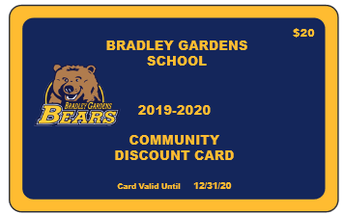 New!  Bradley Gardens Bears Discount Card