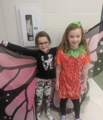 A bit of costume fun in Mrs. Trenchard's class!