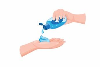 Using Handsanitizer