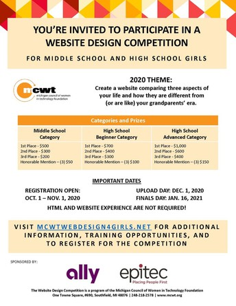 Girls Website Design Competition