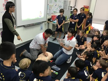 First Aid Training with Year 5 - by Ms Jeni Wong