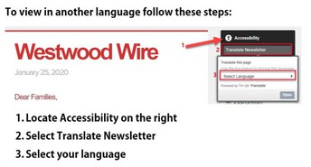 Translate this Newletter on your Desktop / Traducir en la computadora