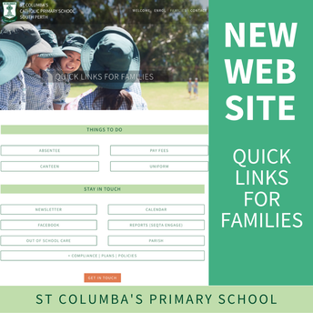 Our new website - links for 'Families'