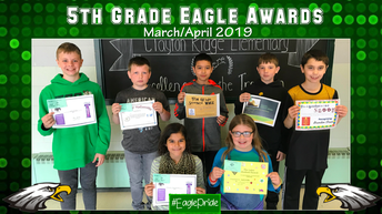 Fifth Grade March/April Awards