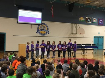 Our Faith team present on Lent at Monday Assembly