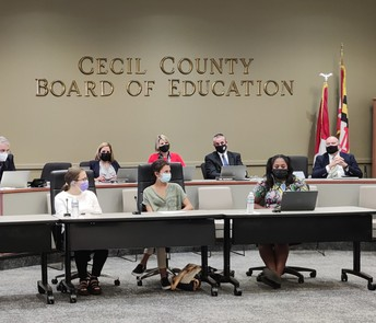 ECA Students Present to Board of Education