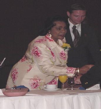 Coretta Scott King Greets Attendees at The CSK Breakfast in Atlanta, Georgia