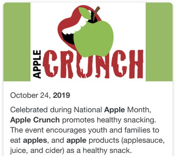 Health and Wellness Week - Apple Crunch Day .....October 24th!!