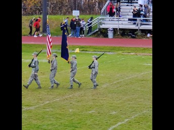 NPHS Color Guard at the football game