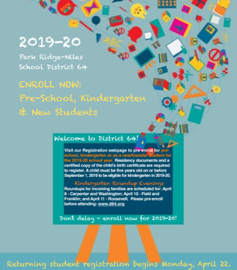 Registration 2019 pre-enrollment flyer