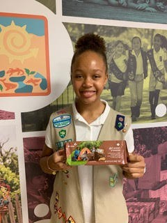 Jacquelyn Trotman Featured on Girl Scout Cookie Box