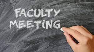 Faculty Meeting via TEAMS