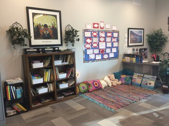 Mrs. Malott's cozy corner for Spanish students!
