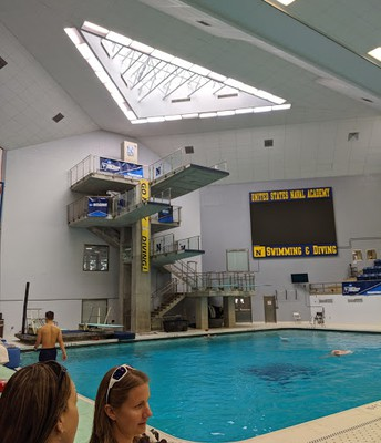 The famous 10 meter dive