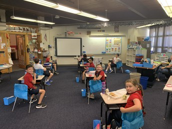 Desks socially distanced