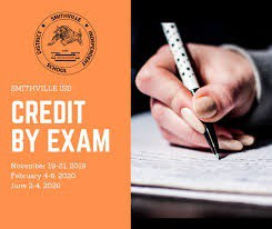 Credit By Exam and Exam Acceleration TESTS - DECEMBER 14th