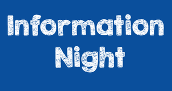 Information Night  Wednesday February 20th @ 6:30 pm