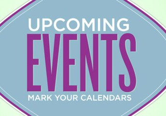 Mark your calendars for the following upcoming events: