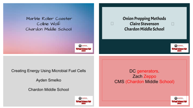 Cover Slides for CMS Student Science Fair Presentations