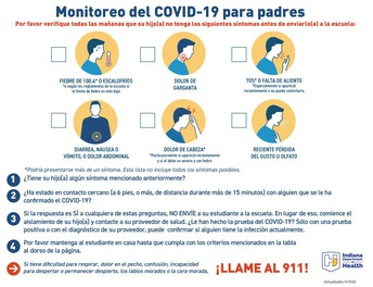 COVID-19 Screening for Parents - Spanish