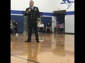 Commander Marsh presents
