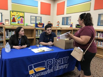 Ms. B. Aguirre & Mr. A. Brouwen Jr., Pharr Public Library & Mrs. Castillo