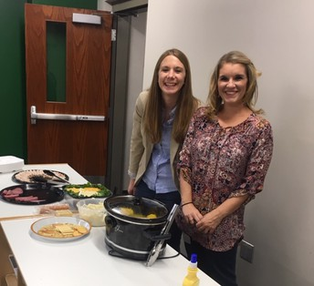 Parents Serving Kindergarten Feast