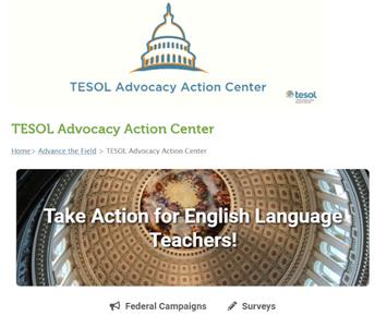 TESOL's New Advocacy  Site