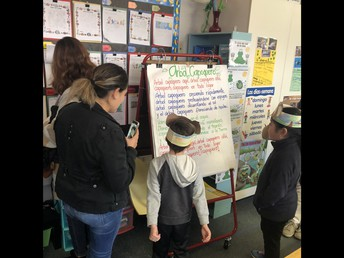 Gallery Walk:  1st grade parents singing a chant