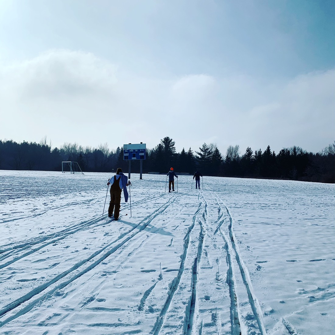 X-Country Skiing! Both Sarah Cook's and Annie Wilson's PE classes have been enjoying the snow and fresh air.