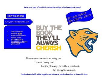 CHS Yearbook Orders