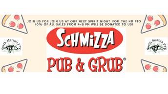 Pizza Schmizza Spirit Night April 6th