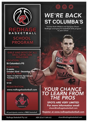 Redhage Basketball School Program Term 4 at St Columba's