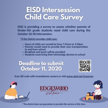 Intersession Child Care Survey