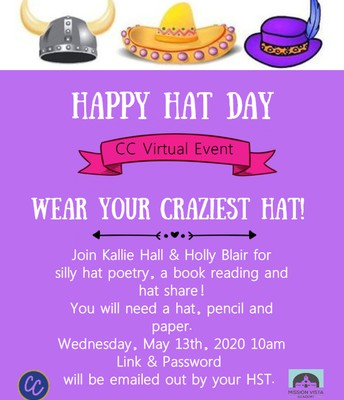 VIRTUAL Community Connections Happy Hats & Poetry!