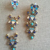 Stone Tile Earrings (converts)