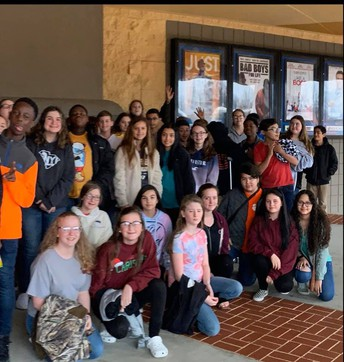 8th graders visited the theater today to watch Harriett Tubman. This was an extension to Informational text reading and finding historical connections in social studies. #lmmsrocks