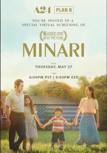 """Special Event: Screening of """"Minari"""""""