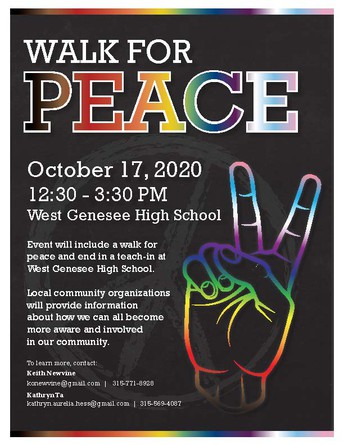 Walk for Peace - Sponsored by the Central New York Justice League
