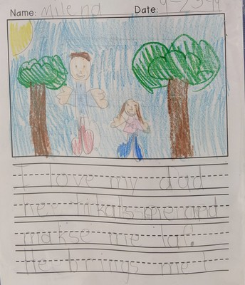 First Grade Author of the Month