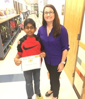 Nishanth Ramasani in Mrs. Riffel's 5th Grade Class