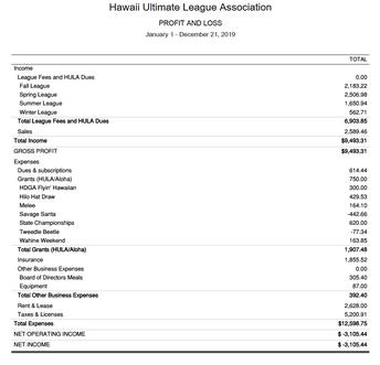 Treasurer's Report
