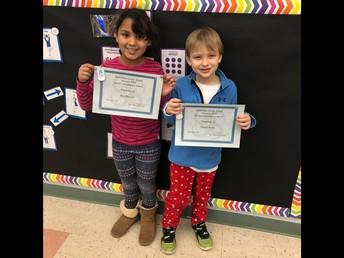 1st grade Perfect Attendance - January