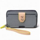 Madison Tech Wallet-Navy Breton Stripe
