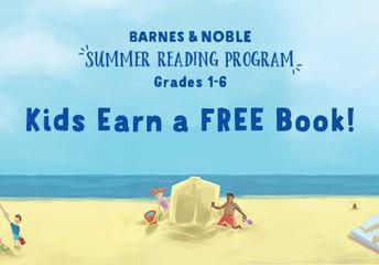 Barnes and Noble Summer reading program beach scene