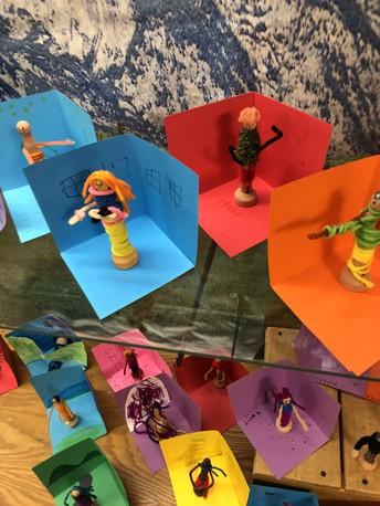 1st Grade Art - Palm Pals
