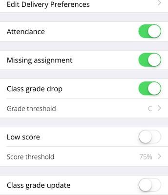Configure Grade Alerts